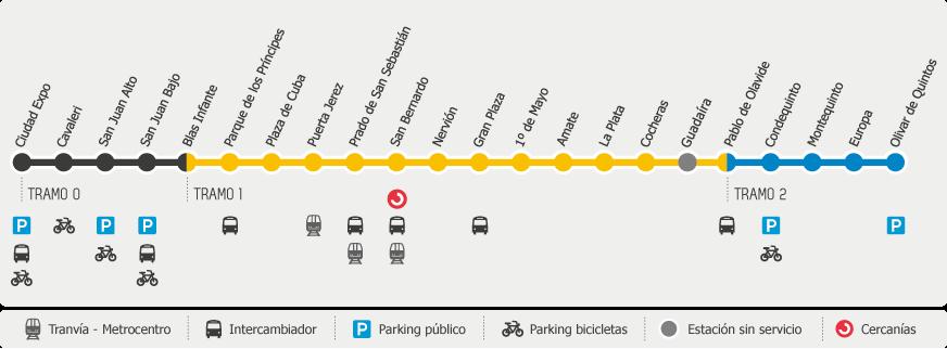 Mapa metro Sevilla